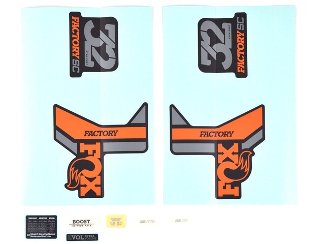 Fox Racing Shox Decal Kit for 32 SC F-S, orange/noir